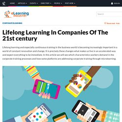 Lifelong Learning In Companies Of The 21st century
