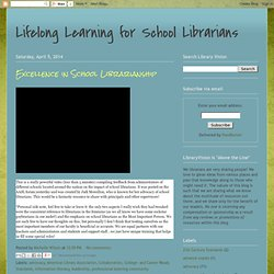 Lifelong Learning for School Librarians