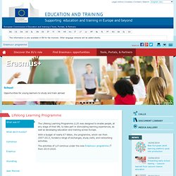 European Commission - Comenius individual mobility - In-service training for teachers and other educational staff