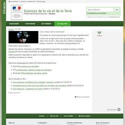 Un site : Lifemap, l'arbre du vivant interactif-Sciences de la vie et de la Terre-Éduscol