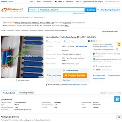 Lifepo4 Battery Cells Headway 40152s 15ah 3.2v - Buy Lifepo4 Battery Cells Headway 40152s 15ah 3.2v,Headway Lifepo4 Battery Pack,Headway Lifepo4 Battery Pack Product on Alibaba