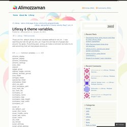 Liferay 6 theme variables. | Alimozzaman