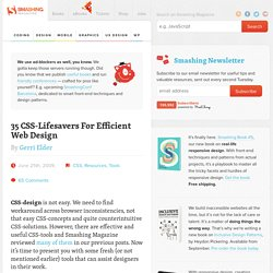 35 CSS-Lifesavers For Efficient Web Design