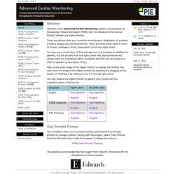 Advanced Cardiac Monitoring: Edwards Lifesciences, Perioperative Interactive Education, patient simulation, POPS, Toronto