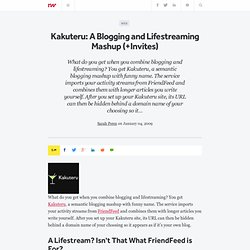 Kakuteru: A Blogging and Lifestreaming Mashup (+Invites) - ReadW