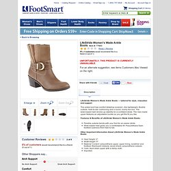 LifeStride Women's Wade Ankle Boots :: Women's Shoes :: Boots :: FootSmart