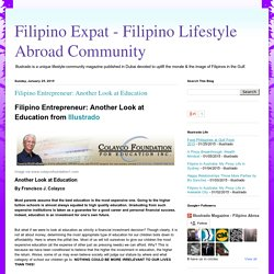Filipino Entrepreneur: Another Look at Education