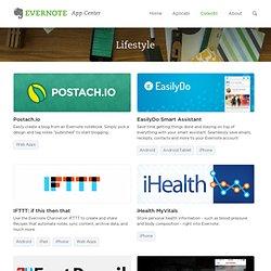 Lifestyle - Evernote App Center