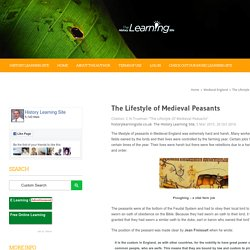 The Lifestyle of Medieval Peasants