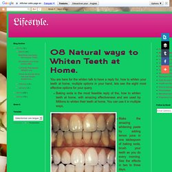 How you can remove your three years back teeth stains at home.