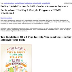 Healthy Lifestyle Practices for 2020 – Southern Arizona for Beginners - Blog