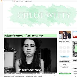 uk fashion & style blog: #sketchtostore - fcuk giveaway