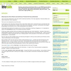 IFA Life – the Social Network for IFAs and Financial Planners -