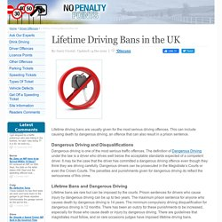 Lifetime Driving Bans in the UK