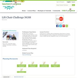 Lift Chair Challenge NGSS