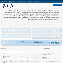 Lift – The Simply Functional Web Framework – Home