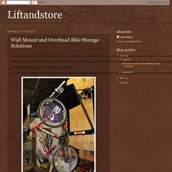 Liftandstore: Wall Mount and Overhead Bike Storage Solutions