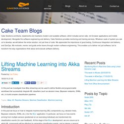Lifting Machine Learning into Akka Streams