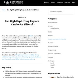Can High Rep Lifting Replace Cardio For Lifters?