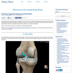 Common Ligament Injuries and Disorders