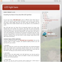 LED light bars: Everything You Need to Know about Mini LED Light Bars