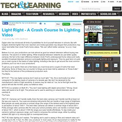Light Right - A Crash Course In Lighting Video