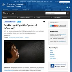 Can UV Light Fight the Spread of Influenza?