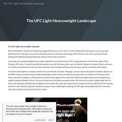 The UFC Light Heavyweight Landscape