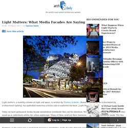 Light Matters: What Media Facades Are Saying