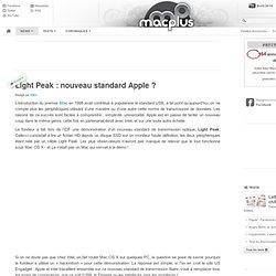 Light Peak: nouveau standard Apple?