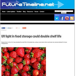 UV light in food storage could double shelf life
