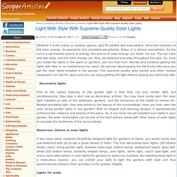 Buy Stylish Solar Lights