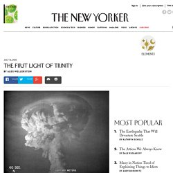The Light of the Trinity Atomic Test