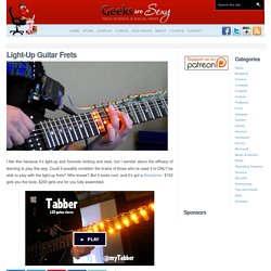 Light-Up Guitar Frets