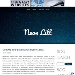 Light Up Your Business with Neon Lights