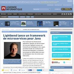 Lightbend lance un framework de microservices pour Java
