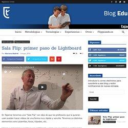 Sala Flip: primer paso de Lightboard - Proyecto EDUCA en Tajamar