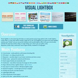 Visual Lightbox JS: Free Visual Generator for Lightbox 2 Script for jQuery or Prototype. jQuery Lightbox.
