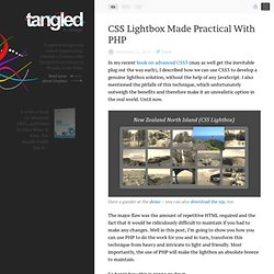 CSS Lightbox Made Practical With PHP