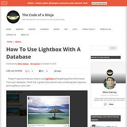 How To Use Lightbox With A Database