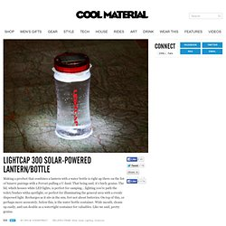 LightCap 300 Solar-Powered Lantern/Bottle