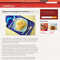 Lightened Up Spaghetti Carbonara