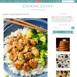 Lighter Honey-Sesame Chicken