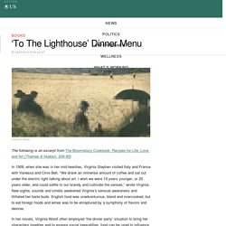 'To The Lighthouse' Dinner Menu