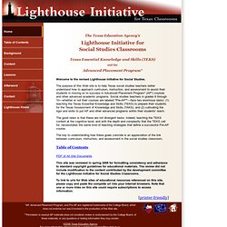 TEA Lighthouse Initiative