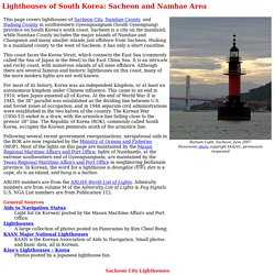 Lighthouses of South Korea: Sacheon and Namhae Area