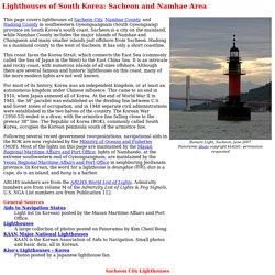 Lighthouses of South Korea: Sacheon and Namhae Area