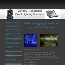 lighting hire birmingham uk - Led Fairy lights and Canopies