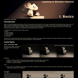 Lighting in Blender Internal Part I : Basics
