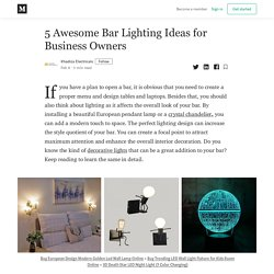 5 Awesome Bar Lighting Ideas for Business Owners - Khadiza Electricals - Medium
